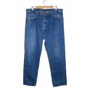 VINTAGE LEVI'S 505 High Rise Orange Tab Straight Jeans